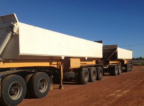 Side Tippers - Road Train with Prime mover 2