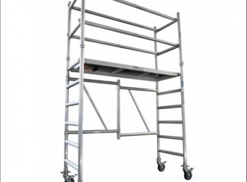 Single Width Aluminium Mobile Foldable Scaffold 1.8m Platform 1