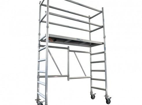Single Width Aluminium Mobile Foldable Scaffold 1.8m Platform 1