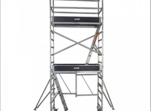 Single Width Aluminium Mobile Foldable Scaffold 3.6m Platform 1