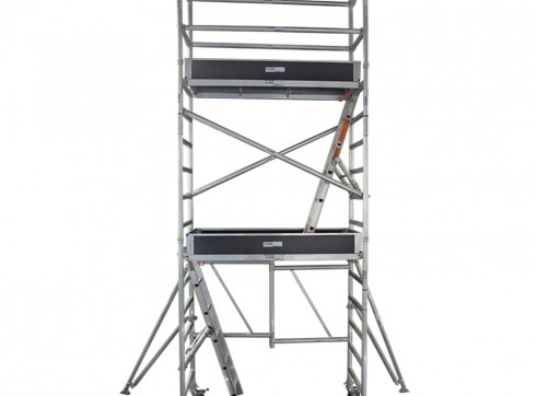 Single Width Aluminium Mobile Foldable Scaffold 3.6m Platform 1