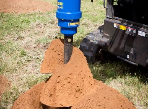 Skidsteer Auger Drive Attachment 5