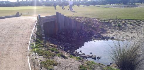 Torquay Golf Course Bridge Construction 8
