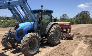 95HP Tractor and Seeder 1