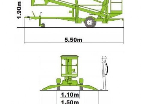 Trailer Mounted Cherry Picker - 12m Nifty 7