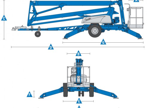 Trailer Mounted Cherry Picker - 17m Genie 2