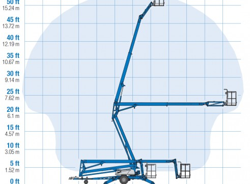 Trailer Mounted Cherry Picker - 17m Genie 3