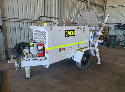 Trailer Mounted Concrete Pump Spray set up 1
