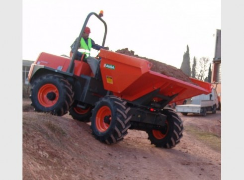 Twaites/Ausa 6T and 9T 4WD dumpers for hire Nationwide 2