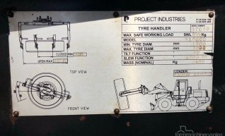 Tyre Handler Loader Attachment 1