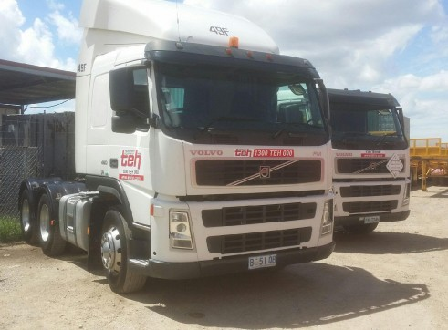 Volvo Prime Movers - autos/manuals, day and sleeper cab, B Double rated 2