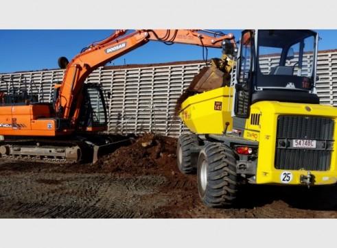 Wacker Nueson 9 tonne site dumper 1