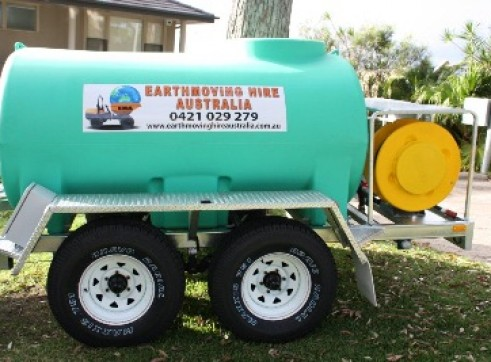 Water Cart Trailer 4x4 1500L 2