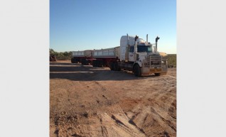 Western Star 4900 with b-double side tippers 1