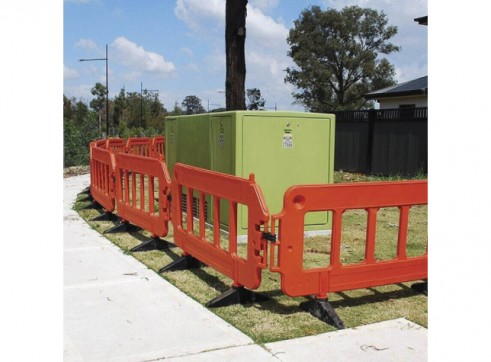 Workzone Pedestrain Barriers - Interlocking 2