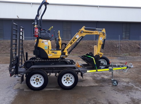 Yanmar Vio12,  1.2Ton Mini Excavator with a Plant Trailer